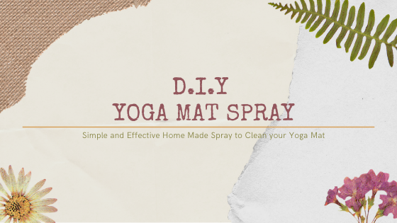 DIY Yoga Mat Cleaning Spray